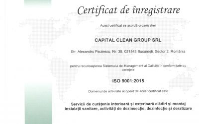 Certificat ISO 9001 Capital Clean