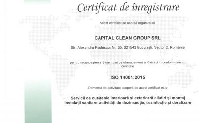 Certificat ISO 14001 Capital Clean